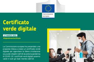 certificato digitale verde Unione europea green pass
